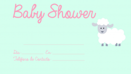 Invitaciones de Baby Shower Ovejita